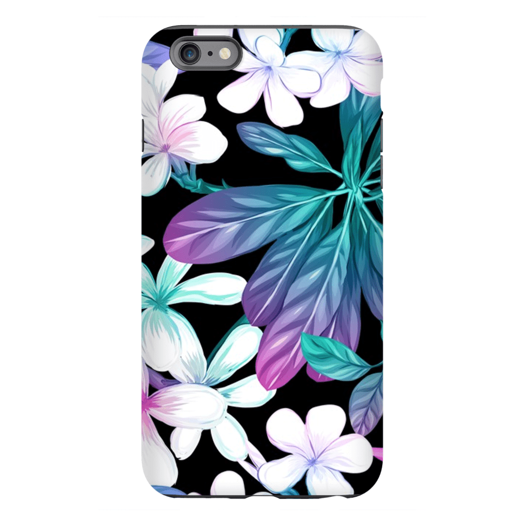 Midnight Tropical Flowers iPhone 6/6s and 6 Plus Tough Case - Purdycase