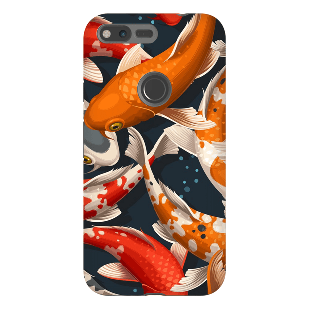 Koi Fish Pattern Google Pixel, Pixel XL, 2, 2XL Tough Case