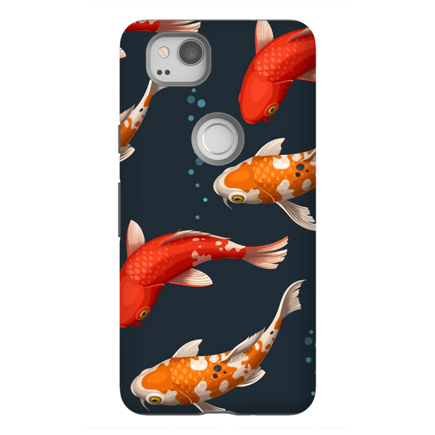 Koi Bubbles Google Pixel, Pixel XL, 2, 2XL Tough Case