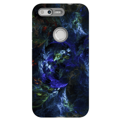 Blue-Green Abstract Google Pixel, Pixel XL, 2, 2XL Tough Case - Purdycase