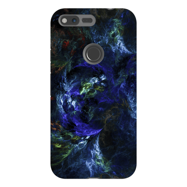 Blue-Green Abstract Google Pixel, Pixel XL, 2, 2XL Tough Case