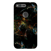 Yellow Specks Abstract Google Pixel, Pixel XL, 2, 2XL Tough Case
