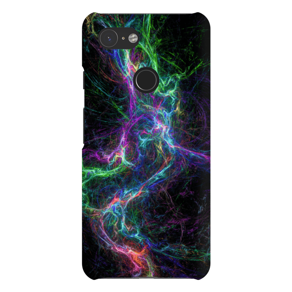Abstract Lightning Google Pixel 3 Snap Case - Purdycase