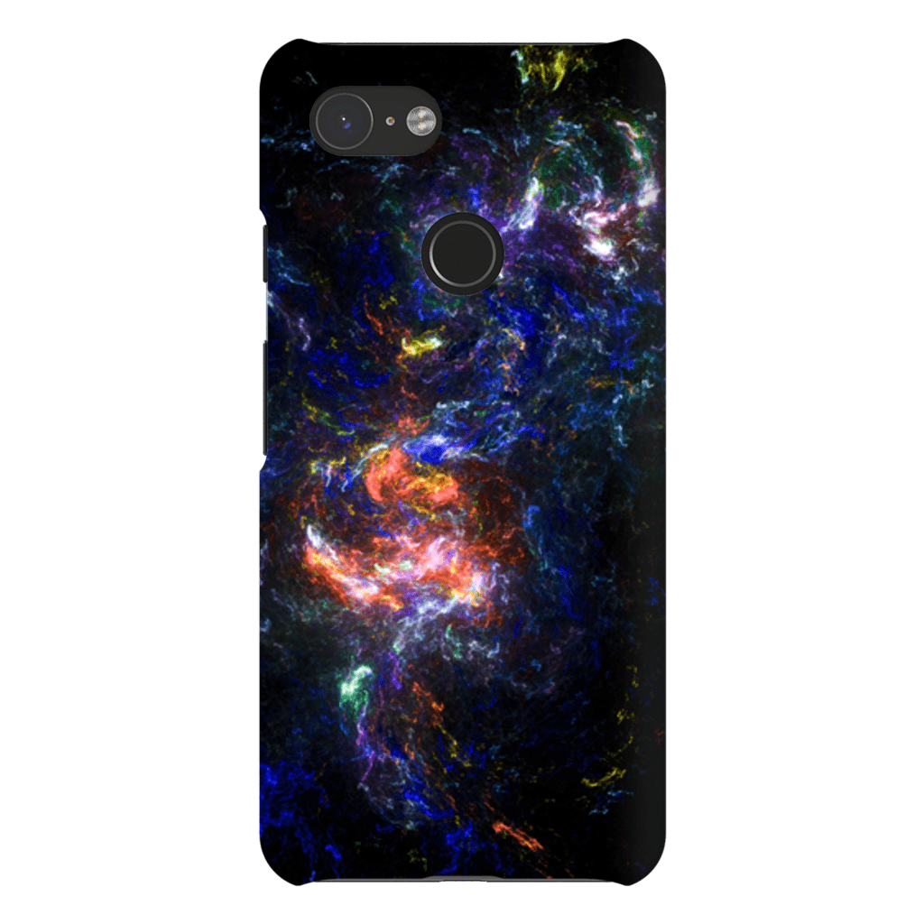 Midnight Blue Abstract Google Pixel 3 Snap Case - Purdycase