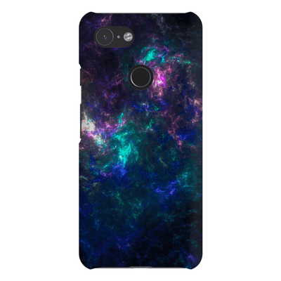 Dark Blue Abstract Google Pixel 3 Snap Case