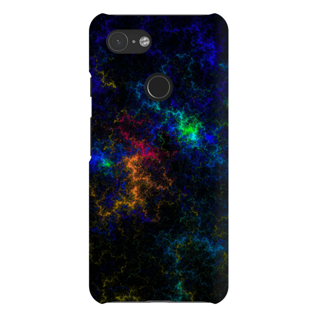 Crazy Blue Abstract Google Pixel 3 Snap Case