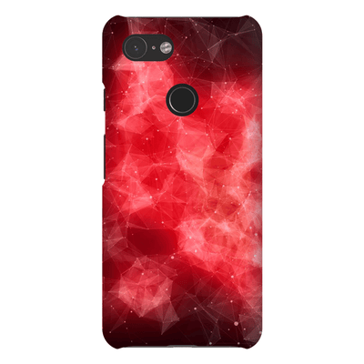 Fire Red Space Google Pixel 3 Snap Case