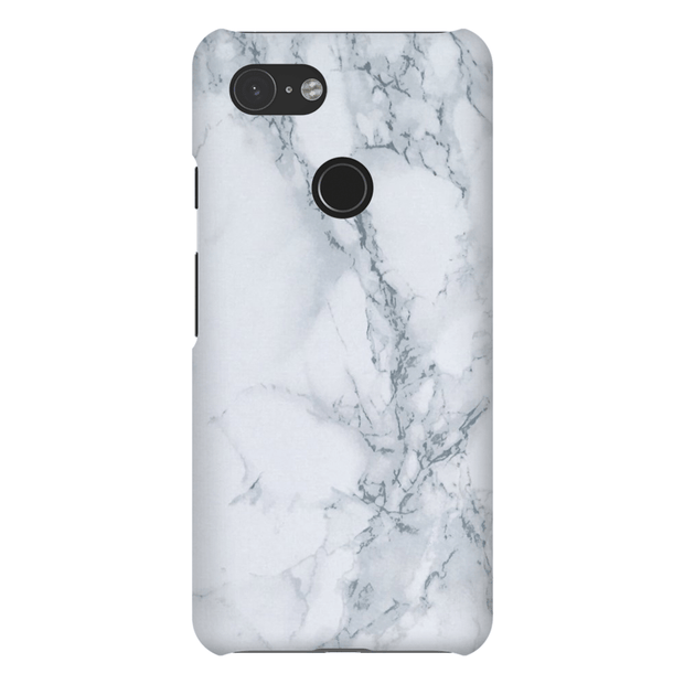 Grey Smoke Marble Google Pixel 3 Snap Case
