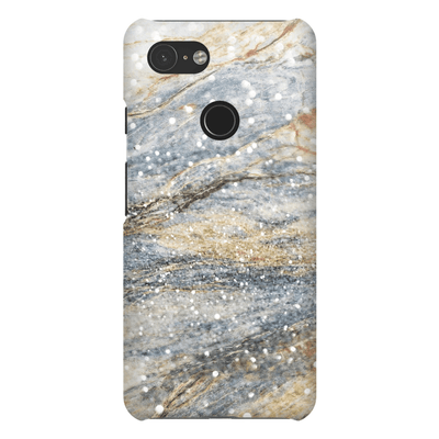 Tan Sparkle Marble Google Pixel 3 Snap Case