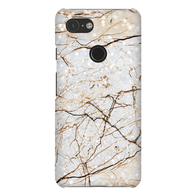 Brown Marble Google Pixel 3 Snap Case