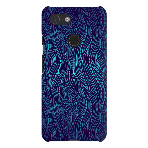 Dark Blue Waves Google Pixel 3 Snap Case