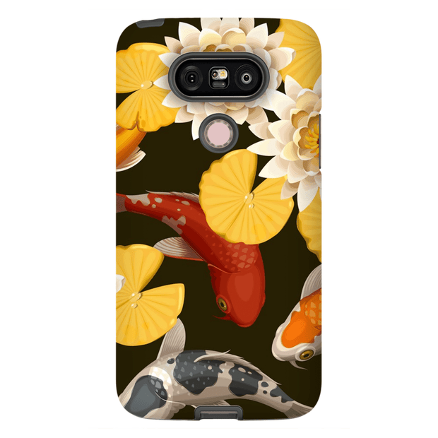 Japanese Koi Yellow Flower LG G5 Tough Case