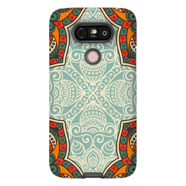 Orange Mandala LG G5, G6, G7 Tough Case