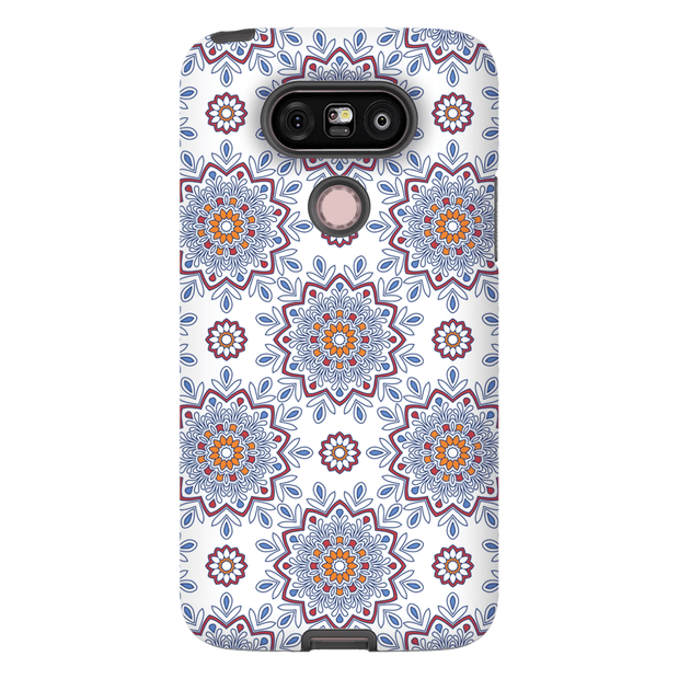 White Flower Mandala LG G5, G6, G7 Tough Case