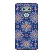 Blue Orange Flower Mandala LG G5, G6, G7 Tough Case
