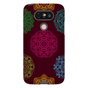 Brown Mandala Flower LG G5, G6, G7 Tough Case