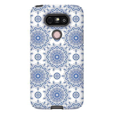 Baby Blue Mandala Flower LG G5, G6, G7 Tough Case