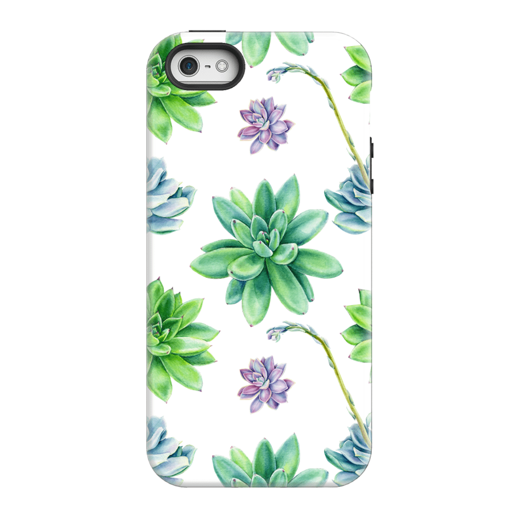 Purple Succulent Flower iPhone 5/5s/SE Tough Case - Purdycase