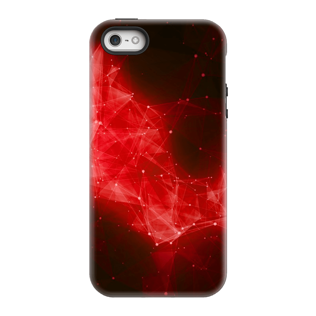 Red Nebula Space iPhone 5/5s/SE Tough Case - Purdycase