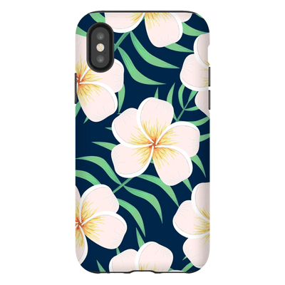 Hawaiian Plumeria Flower iPhone X-XS Max Tough Case