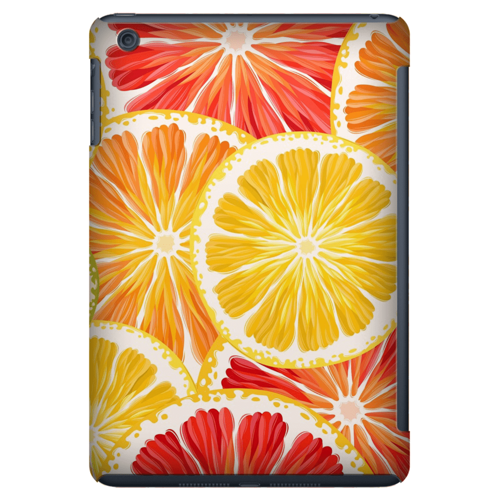 Citrus Orange iPad 3/4, iPad Mini 1 and iPad Mini 4 Tablet Case - Purdycase