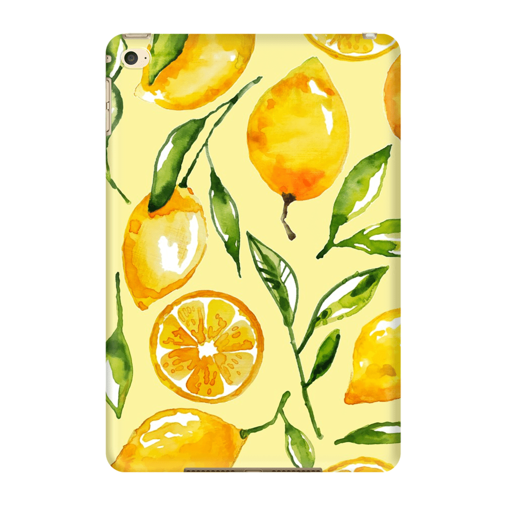 Yellow Lemon iPad 3/4, iPad Mini 1 and iPad Mini 4 Tablet Case - Purdycase