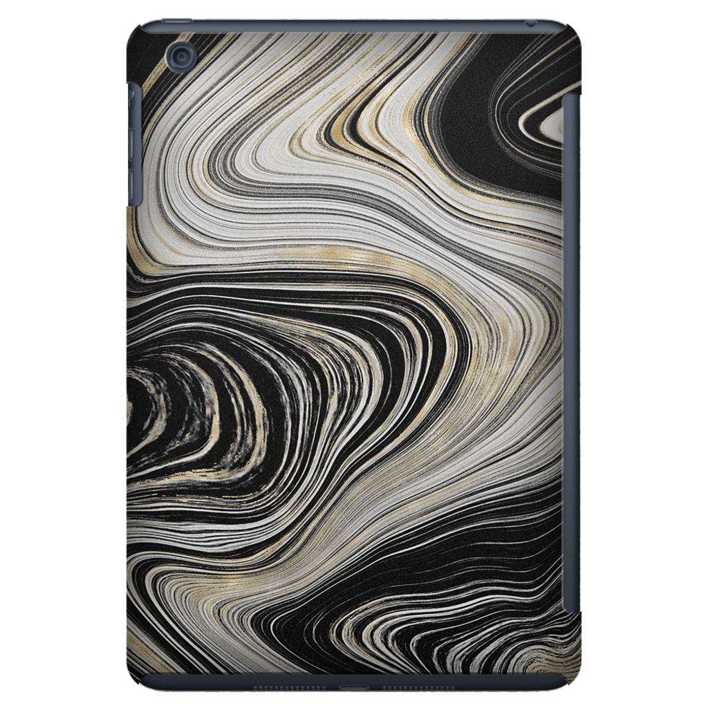Gold Swirl Agate iPad 3/4, iPad Mini 1 and iPad Mini 4 Tablet Case - Purdycase