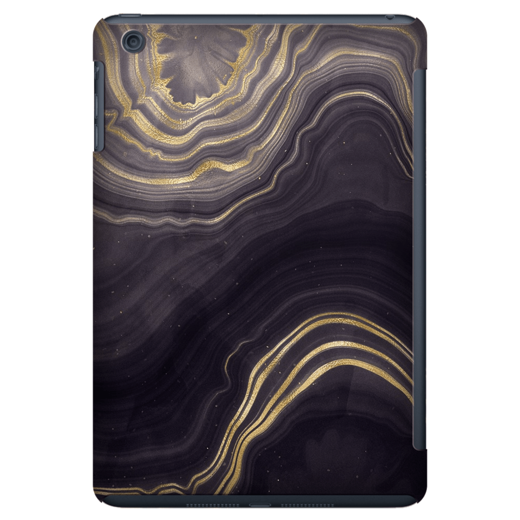 Black Gold Agate iPad 3/4, iPad Mini 1 and iPad Mini 4 Tablet Case - Purdycase