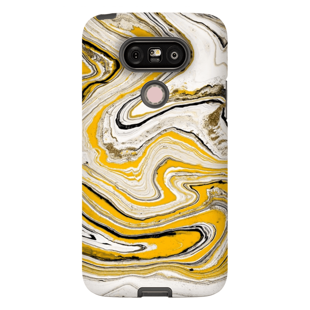 Yellow Abstract LG 5, LG6, LG7 Tough Case