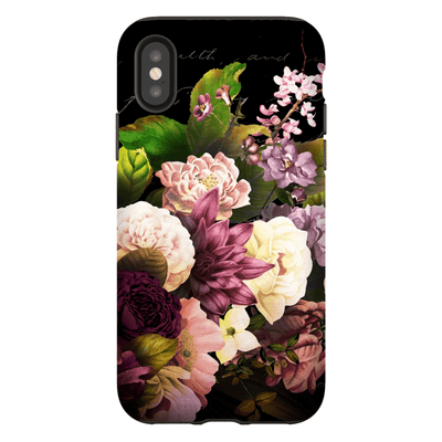 Floral Grace Flowers iPhone X-XS Tough Case