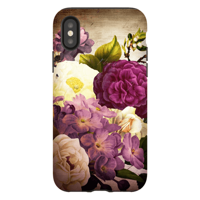 Burgundy Bouquet Flowers iPhone X-XS Tough Case