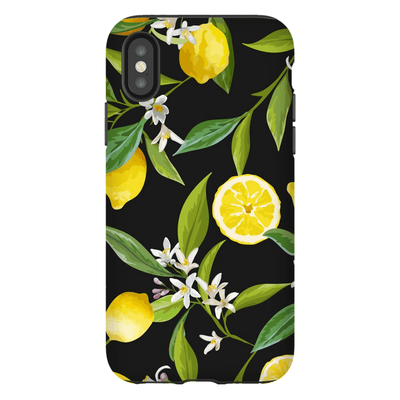 Black Lemon Tree iPhone X-XS Max Tough Case