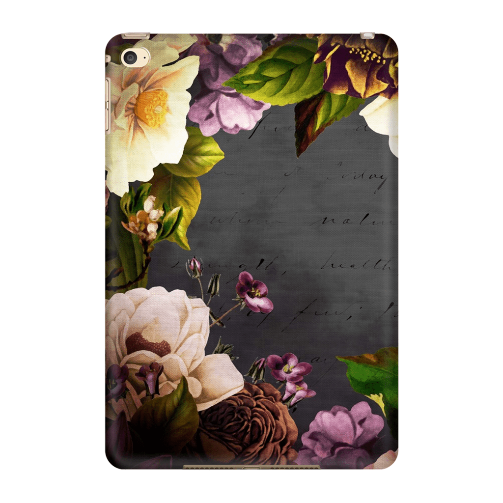 Vintage Purple Floral iPad 3/4, iPad Mini 1 and iPad Mini 4 Tablet Case - Purdycase