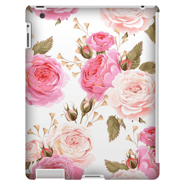 Pink Rose iPad 3/4, iPad Mini 1 and iPad Mini 4 Tablet Case