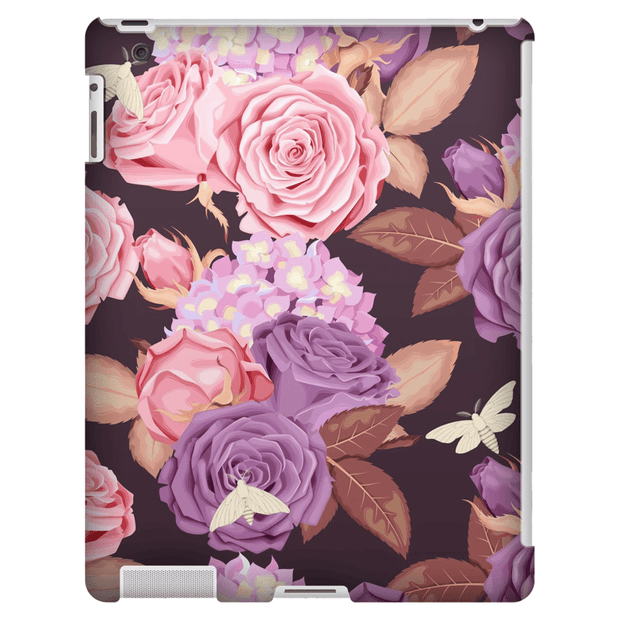 Purple Rose iPad 3/4, iPad Mini 1 and iPad Mini 4 Tablet Case