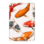 White Koi iPad 3/4, iPad Mini 1 and iPad Mini 4 Tablet Case