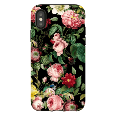 Pink Rose Bush iPhone X-XS Max Tough Case - Purdycase