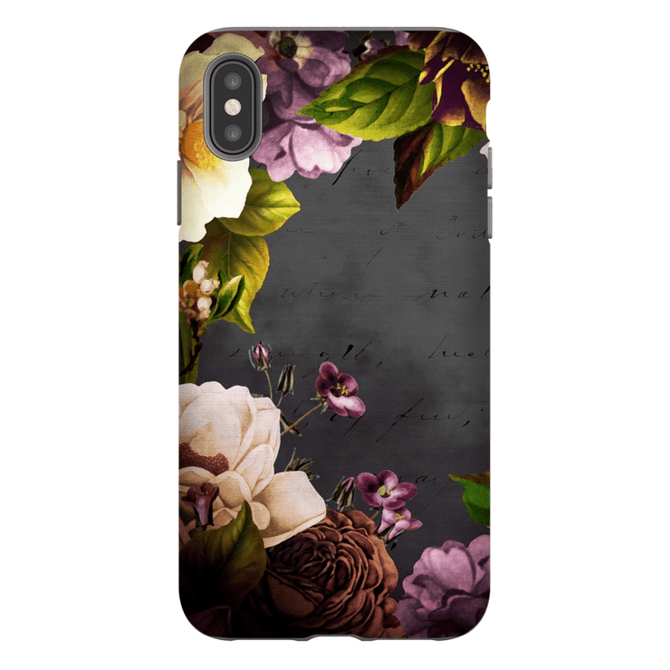 Purple Vintage Floral iPhone X-XS Max Tough Case