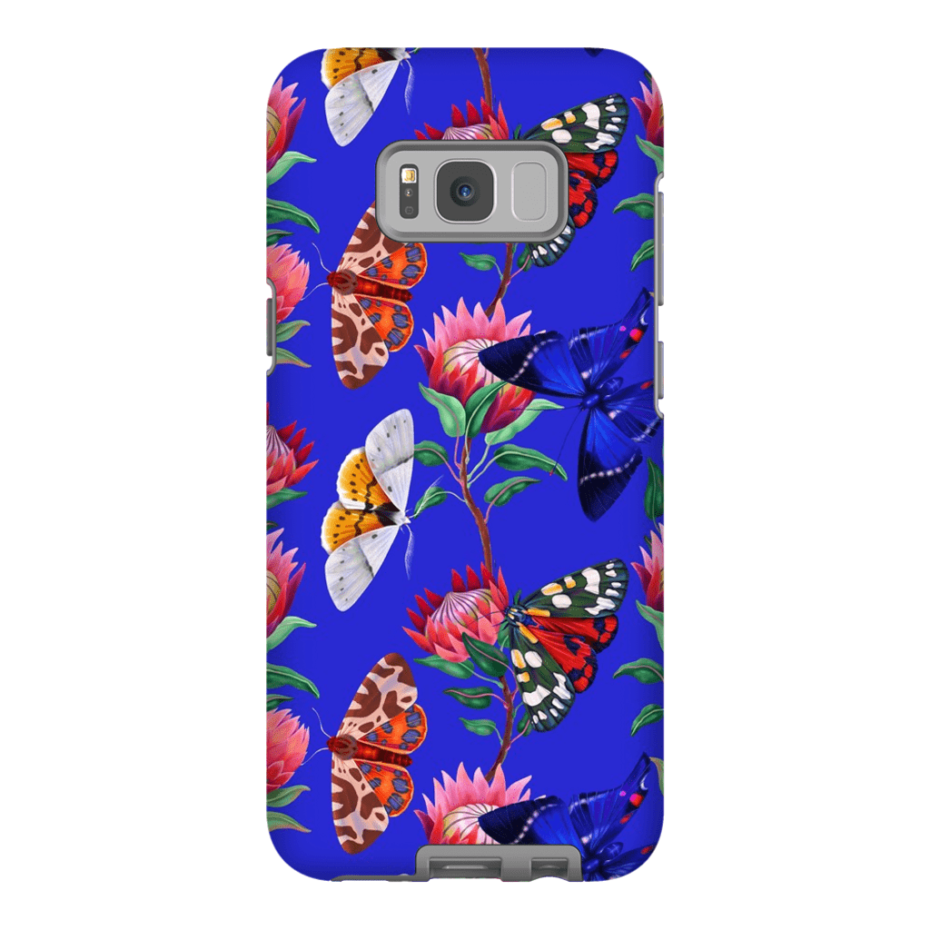 Blue Butterfly Pattern Galaxy S8 and S8 Plus Tough Case - Purdycase