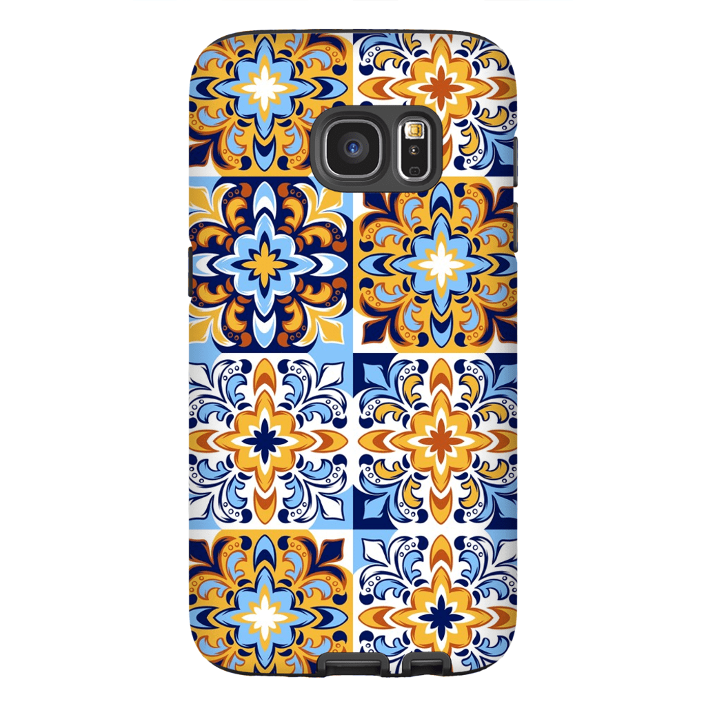 Italian Tile Pattern Galaxy S7 and S7 Edge Tough Case - Purdycase