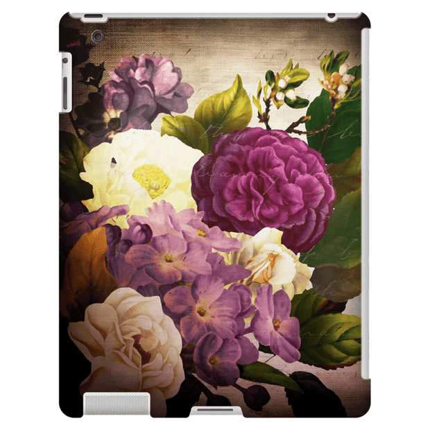 Vintage Burgundy Floral iPad 3/4, iPad Mini 1 and iPad Mini 4 Tablet Case