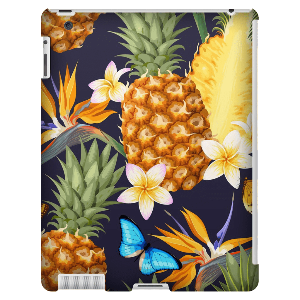 Tropical Pineapple iPad 3/4, iPad Mini 1 and iPad Mini 4 Tablet Case - Purdycase