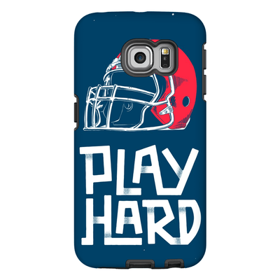 Football Play Hard Galaxy S6 Edge and S6 Edge Plus Tough Case - Purdycase