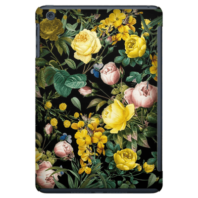 Yellow Floral Bush iPad 3/4, iPad Mini 1 and iPad Mini 4 Tablet Case - Purdycase