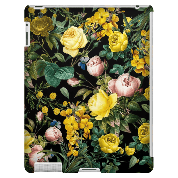 Yellow Floral Bush iPad 3/4, iPad Mini 1 and iPad Mini 4 Tablet Case