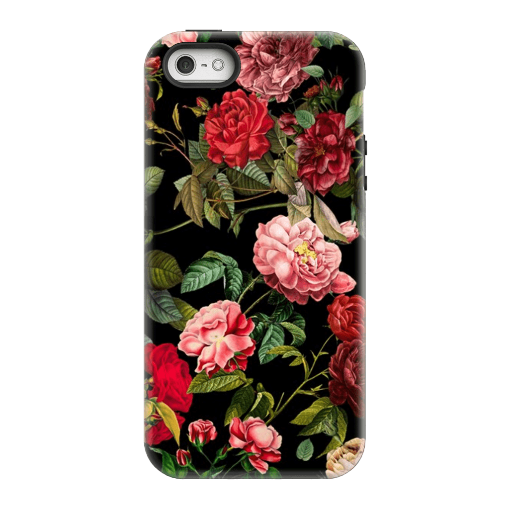 Red Pink Rose Bush iPhone 5SE-8 Plus Series Tough Cases - Purdycase