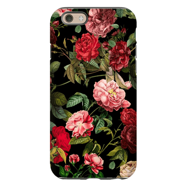 Red Pink Rose Bush iPhone 5SE-8 Plus Series Tough Cases