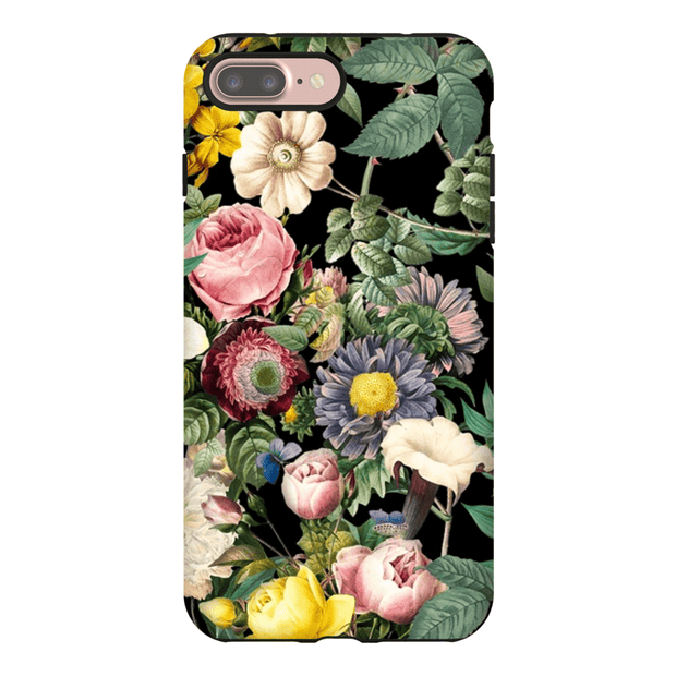 Multi-Color Rose Bush iPhone 5SE-8 Plus Series Tough Cases