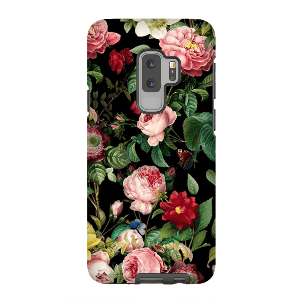 Pink Rose Bush Galaxy S9 and S9 Plus Tough Cases - Purdycase