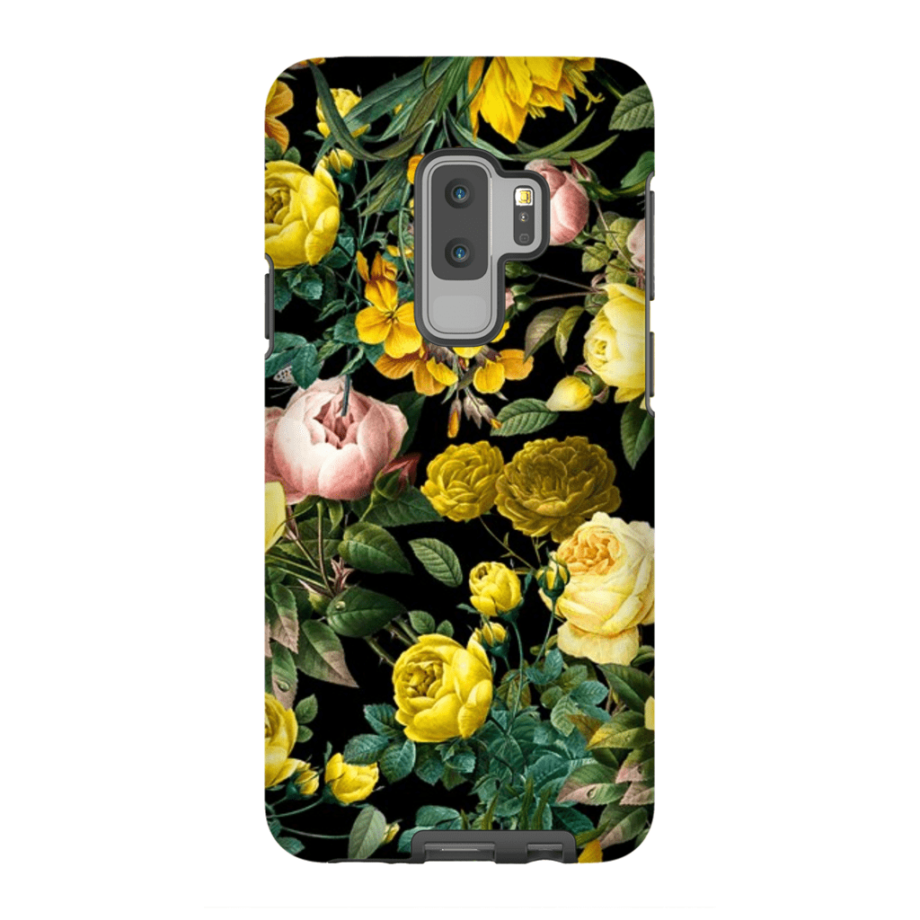 Yellow Rose Bush Galaxy S9 and S9 Plus Tough Cases - Purdycase